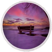 Round Beach Towel featuring the photograph Enters The Unguarded Heart by Phil Koch