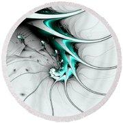 Round Beach Towel featuring the digital art Entity by Anastasiya Malakhova