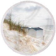 Round Beach Towel featuring the photograph Entrance by Hannes Cmarits