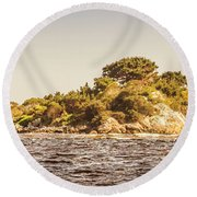 Entrance Island Lighthouse, Hells Gates Round Beach Towel