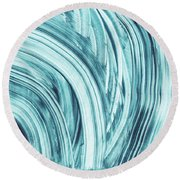 Entranced 1- Abstract Art By Linda Woods Round Beach Towel