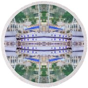 Entranced Round Beach Towel by Keith Armstrong