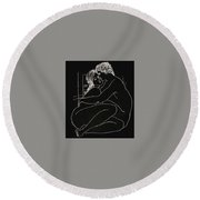 Round Beach Towel featuring the digital art Enveloped by Kim Kent