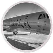 Envoy Embraer Regional Jet Round Beach Towel