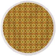 Round Beach Towel featuring the mixed media Epic 54cd2 Chuarts Limited Edition by Clark Ulysse