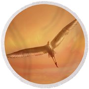 Round Beach Towel featuring the photograph Epiphany by Marion Cullen