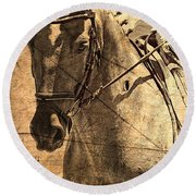 Equestrian Round Beach Towel by Clare Bevan