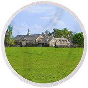Round Beach Towel featuring the photograph Erdenheim Farm - Whitemarsh Montgomery County Pa by Bill Cannon