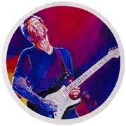 Eric Clapton - Crossroads Round Beach Towel