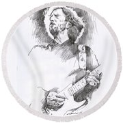 Eric Clapton Sustains Round Beach Towel