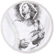 Eric Clapton Sustains Round Beach Towel