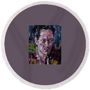 Erik Round Beach Towel by Jim Vance