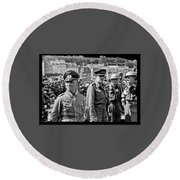 Erwin Rommel And Captured British Soldiers Tobruck Libya 1942 Color Added 2016  Round Beach Towel