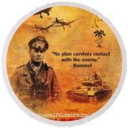 Erwin Rommel Tribute Round Beach Towel