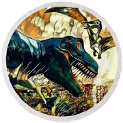 Escape From Jurassic Park Round Beach Towel