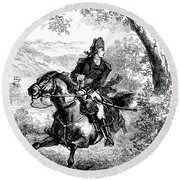 Escape Of Benedict Arnold Round Beach Towel