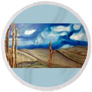Escape Round Beach Towel by Pat Purdy