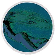 Round Beach Towel featuring the painting Escape by Tbone Oliver
