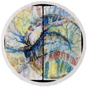 Escaping Reality Round Beach Towel