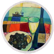 Escargot Round Beach Towel