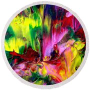 Round Beach Towel featuring the painting Essence by Fred Wilson