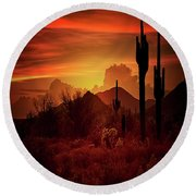 Round Beach Towel featuring the photograph Essence Of The Southwest - Square  by Saija Lehtonen