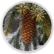 Round Beach Towel featuring the photograph Essence Of Winter  by Bruce Carpenter