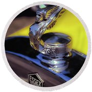 Essex Super 6 Hood Ornament Round Beach Towel
