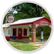 Esso Station Round Beach Towel