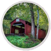 Round Beach Towel featuring the photograph Esther Furnace Bridge by Marvin Spates