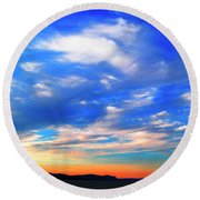 Estuary Skyscape Round Beach Towel