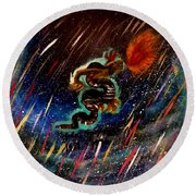 Eternal Flame  Round Beach Towel