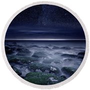 Round Beach Towel featuring the photograph Eternal Horizon by Jorge Maia