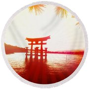 Eternal Japan Round Beach Towel