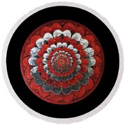 Round Beach Towel featuring the painting Eternal Love by James Lanigan Thompson MFA