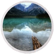Eternal Reflections Emerald Lake Yoho National Park British Columbia Canada Round Beach Towel