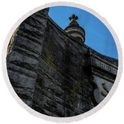 Eternal Stone Structure C Round Beach Towel
