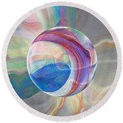 Round Beach Towel featuring the painting Ethereal World by Robin Moline