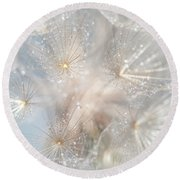 Ethereal Lightness Round Beach Towel by Jenny Rainbow
