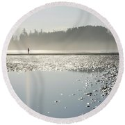 Ethereal Reflection Round Beach Towel