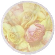 Ethereal Rose Bouquet Round Beach Towel by Linda Phelps