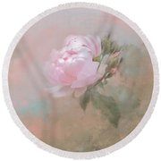Ethereal Rose Round Beach Towel