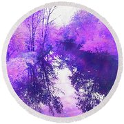 Ethereal Water Color Blossom Round Beach Towel