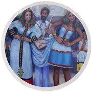 Ethiopian Ladies Shoulder Dancing Round Beach Towel