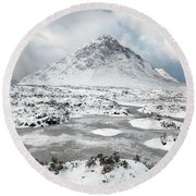 Etive Mor Winter Round Beach Towel