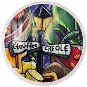 Etouffee Creole Round Beach Towel