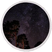 Eucalyptus Galaxy Round Beach Towel