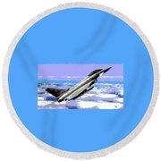 Eurofighter Typhoon Round Beach Towel