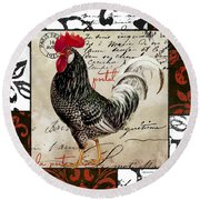 Europa Rooster IIi Round Beach Towel by Mindy Sommers