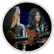 Eva Cassidy And Katie Melua Round Beach Towel by Bryan Bustard